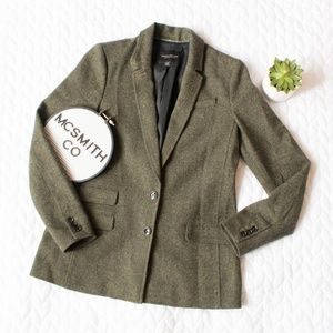 Banana Republic | Green Wool Hacking Jacket Blazer